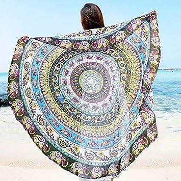 Eeayyygch Mandala tapices Redondos esteras Toalla de Playa Tela adjunta sofás Toalla manteles de Yoga Estera (Color : -, tamaño : -): Amazon.es: Hogar