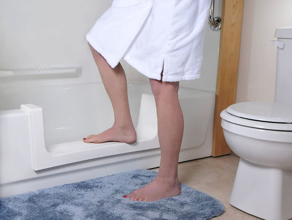 CleanCut Step Bathtub Accessibility Kit - Convert Existing Tub to Step-In Shower (White, Size Large)