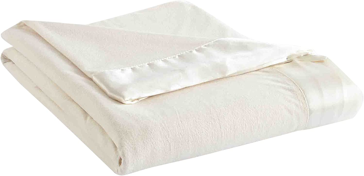 Thermee Micro Flannel Year-Round Sheet Blanket, Sand, Full/Queen
