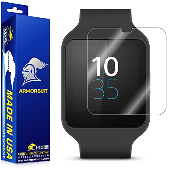 ArmorSuit Max Coverage Screen Protector (2 Pack) For Sony SmartWatch 3 - HD Clear
