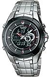 Edifice EFA-119BK-1AVCF Reloj Análogo Digital para Hombre, Acero Inoxidable