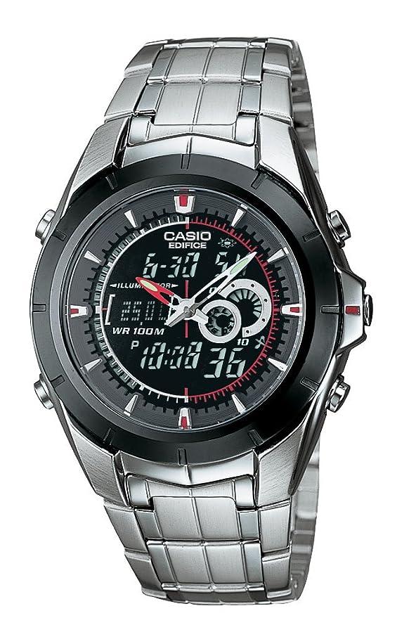 bca9a8d4838 Edifice EFA-119BK-1AVCF Reloj Análogo Digital para Hombre