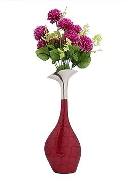 ZAHAB SWAN Neck Aluminium Unbreakable Flower VASE Vases at amazon