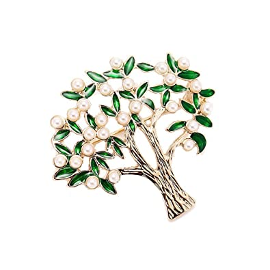 43623a096 Amazon.com: AOCHEE Enamel Coconut Palm Brooch Pin Green Leaves Pearl Tree  Brooch Lapel Stick Pin for Hat, Bag, Suit (#2): Jewelry