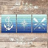 Nautical Art Prints (Set of 3) - Unframed - 8x10s