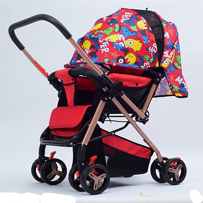 TZQ Cochecito Bidireccional Para Bebés Asiento Plegable Para Bebé ...