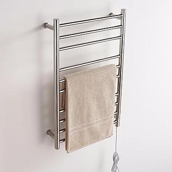 Toallas de acero inoxidable de secado tendedero toallero calentador de ropa: Amazon.es: Hogar