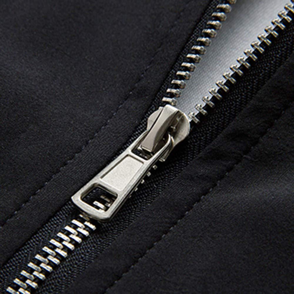 EnjoCho Fashion Mens Autumn Winter Casual Pocket Zipper Thermal Jacket Top Coat
