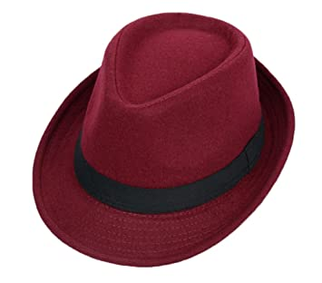 a7866c1bf854d Image Unavailable. Image not available for. Color  East Majik Homburg Fedora  Fashion Hat - Wine Red