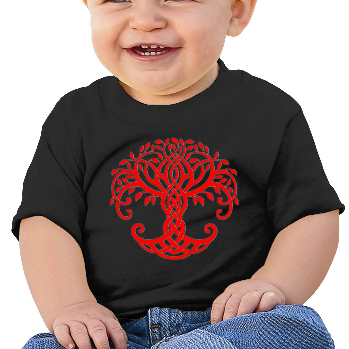 JVNSS Celtic Tree of Life Baby T-Shirt Toddler//Infant Cotton T Shirts Fashion Graphic Tees for 6M-2T Baby