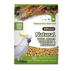 ZuPreem Natural Large Bird Food, 3-Pound