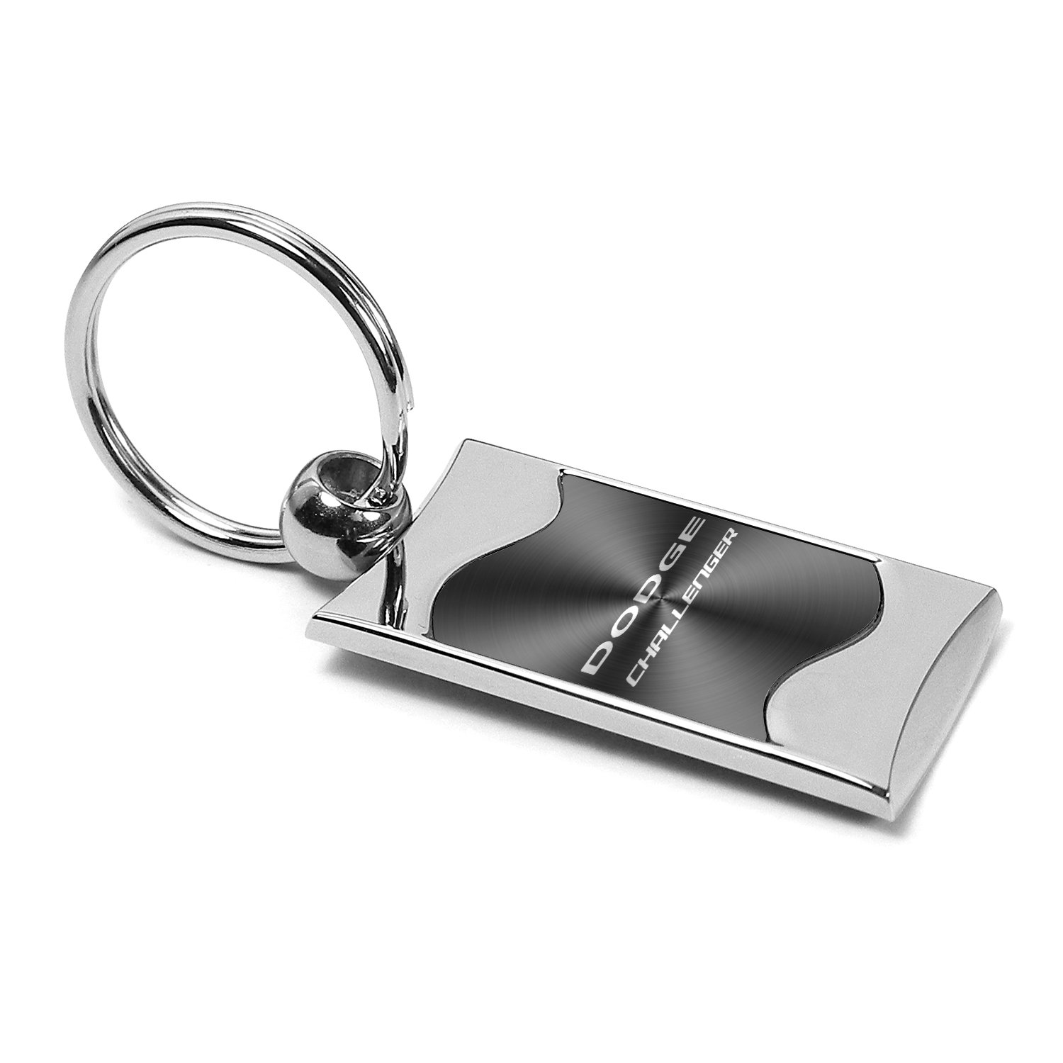 KC3075.CHA.BLK Au-TOMOTIVE GOLD Compatible Keychain and Keyring for Dodge Challenger Black Wave