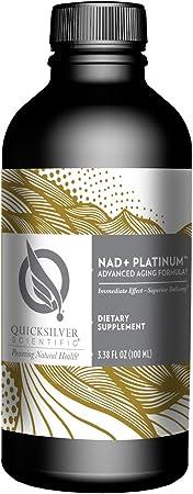 Quicksilver Scientific Liposomal NAD+ Platinum - Liquid NAD-Precursor Supplement with Liposomal NMN, TMG + B12 - Healthy Aging, Cognitive, Liver + Energy Support - (3.38oz / 100ml)