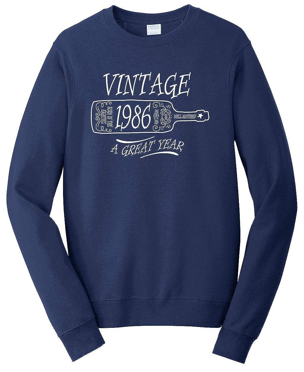 Tenacitee Unisex Aged Like a Fine Wine 1986 Sweatshirt
