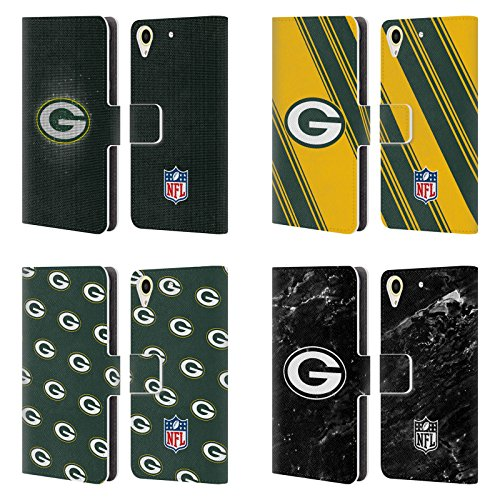 Official NFL 2017/18 Green Bay Packers Leather Book Wallet Case Cover For HTC Desire 650