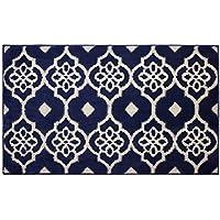 Jean Pierre Meeko 24 X 60 Textured Decorative Accent Rug, Runner, Navy/Berber