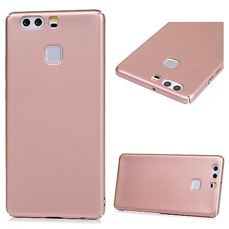 Funda Huawei P9, Carcasa Ultrafina Suave para Huawei P9(5.2 Pulgadas), Caso Plástico Rigido Cover Case , Anti-Rasguño y Resistente Huellas - Oro rosa