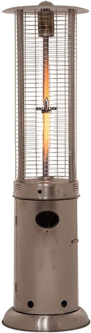 ?????? Outdoor Heating Stainless Steel Patio Heater Portable Outdoor Heat Lamp Cylindrical Gas Heater Adjustable Outdoor Heaters Suitable for Indoors heaters for Patio