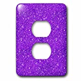 3dRose Uta Naumann Faux Glitter Pattern - Image of Ultra Violet Glitter Luxury Elegant Mermaid Girly Trend - Light Switch Covers - 2 plug outlet cover (lsp_275493_6)