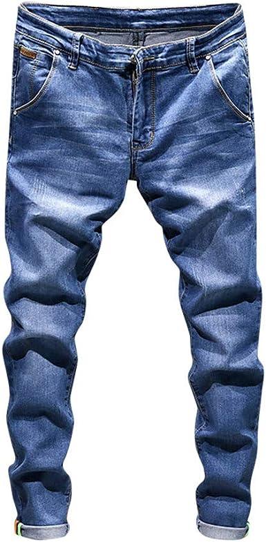 LANSKIRT_Pantalones Pantalones Vaqueros Hombre Trabajo de ...