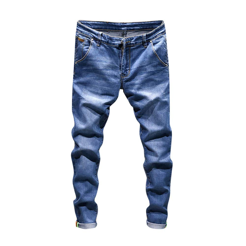 Herren Hose Ronamick mä nner lang Trainingshose Slim fit Freizeithose Jeans Sporthose Jogginghose Sweatpants Winter Trousers Warm Sporthose Sweatpants(28, Dunkel blau)