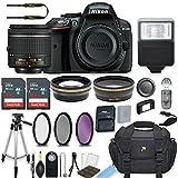 Nikon D5300 24.2 MP DSLR Camera (Black) with AF-P DX NIKKOR 18-55mm f/3.5-5.6G VR Lens Bundle includes 64GB Memory + Filters + Deluxe Bag + Professional Accessories (25 Items)