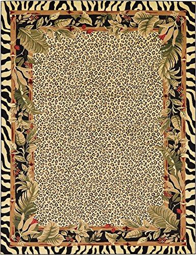 Black Safari Collection Rug (Unique Loom Safari Collection Cream 9 x 12 Area Rug (9' x 12'))
