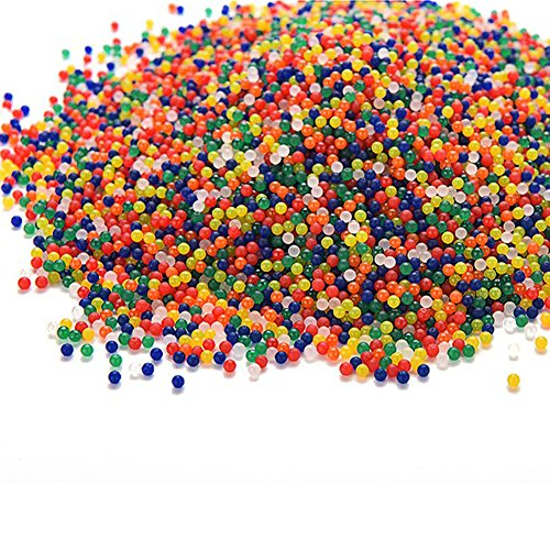 - Feamos 10000Pcs Water Beads Bullet Ball Crystal Soil for Water Pistol Gun Toy Bottle Decor
