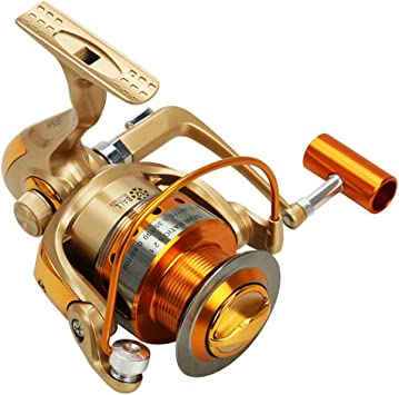 L&WB Metal Spinning Pesca Carrete 12BB Spinning mar Pesca Carrete ...