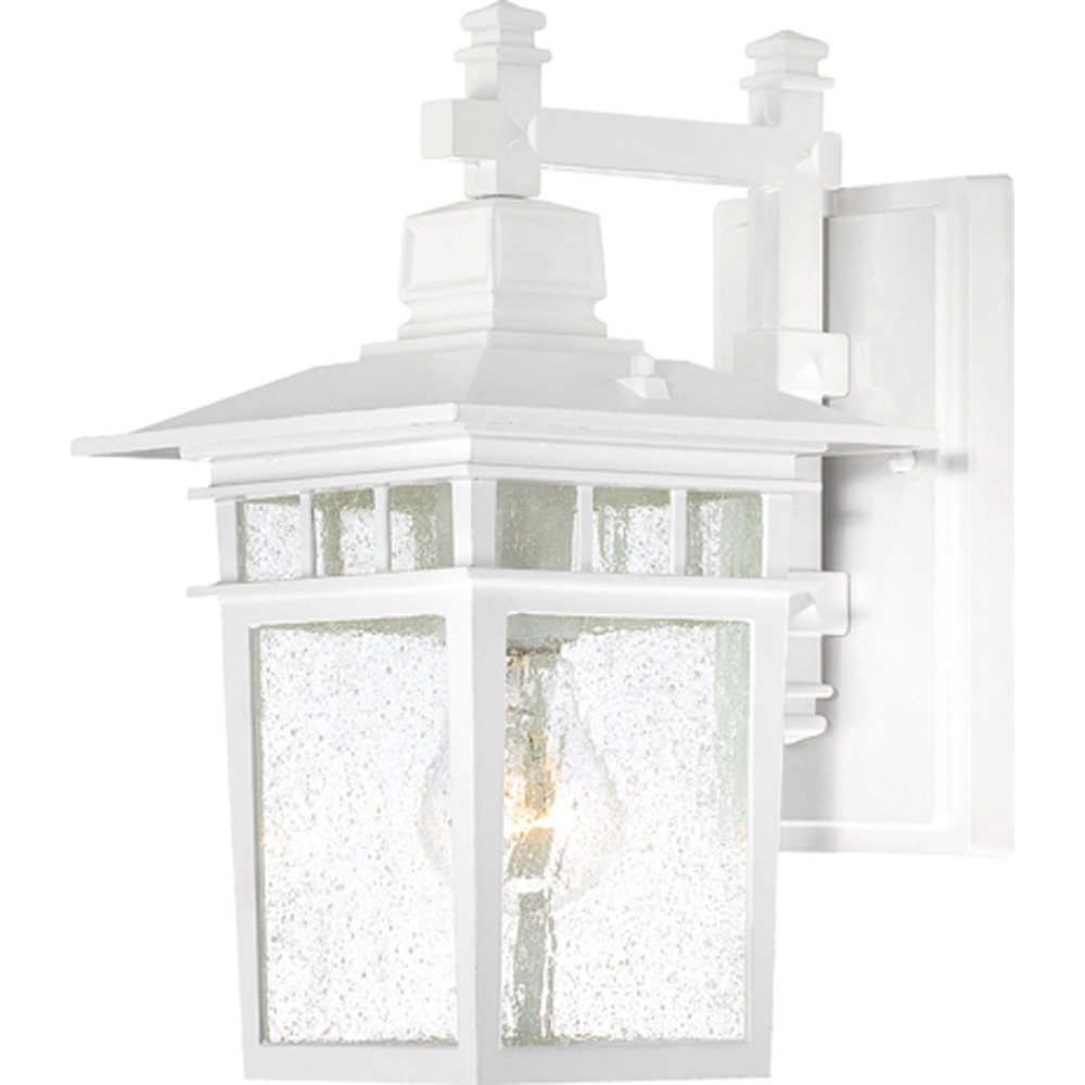 Nuvo lighting 604953 cove neck one light wall lanternarm down 100 nuvo lighting 604953 cove neck one light wall lanternarm down 100 watt a19 max clear seeded glass textured black outdoor fixture landscape lanterns aloadofball Images