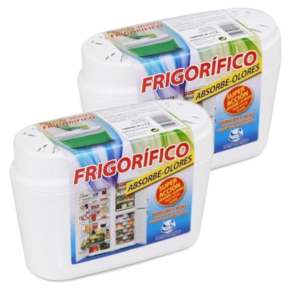 Amahogar - Fridge Odor Absorber - Odour Absorber and Air Purifier - 40 gr - Set of 2 - Made in Spain