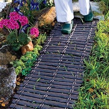 Set Of 2 Durable Rubber Outdoor Pathway Garden Trail Walkway Mat
