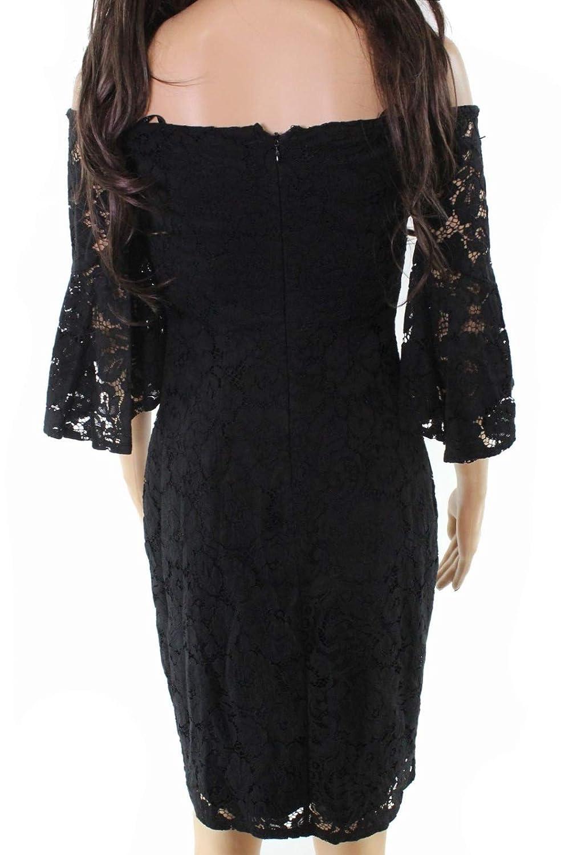 8ba35389602b Laundry by Shelli Segal Womens Sheath Lace Dress Black 8 at Amazon Women s  Clothing store