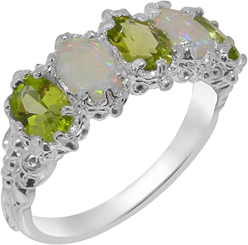 Peridot Opal Ring