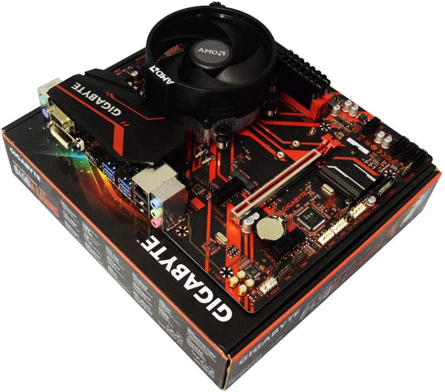 ADMI CPU Motherboard Bundle: AMD Ryzen 3 2300X Quad Core 4.0GHz CPU, Gigabyte B450M GAMING Motherboard, 8GB 2400Mhz DDR4 RAM