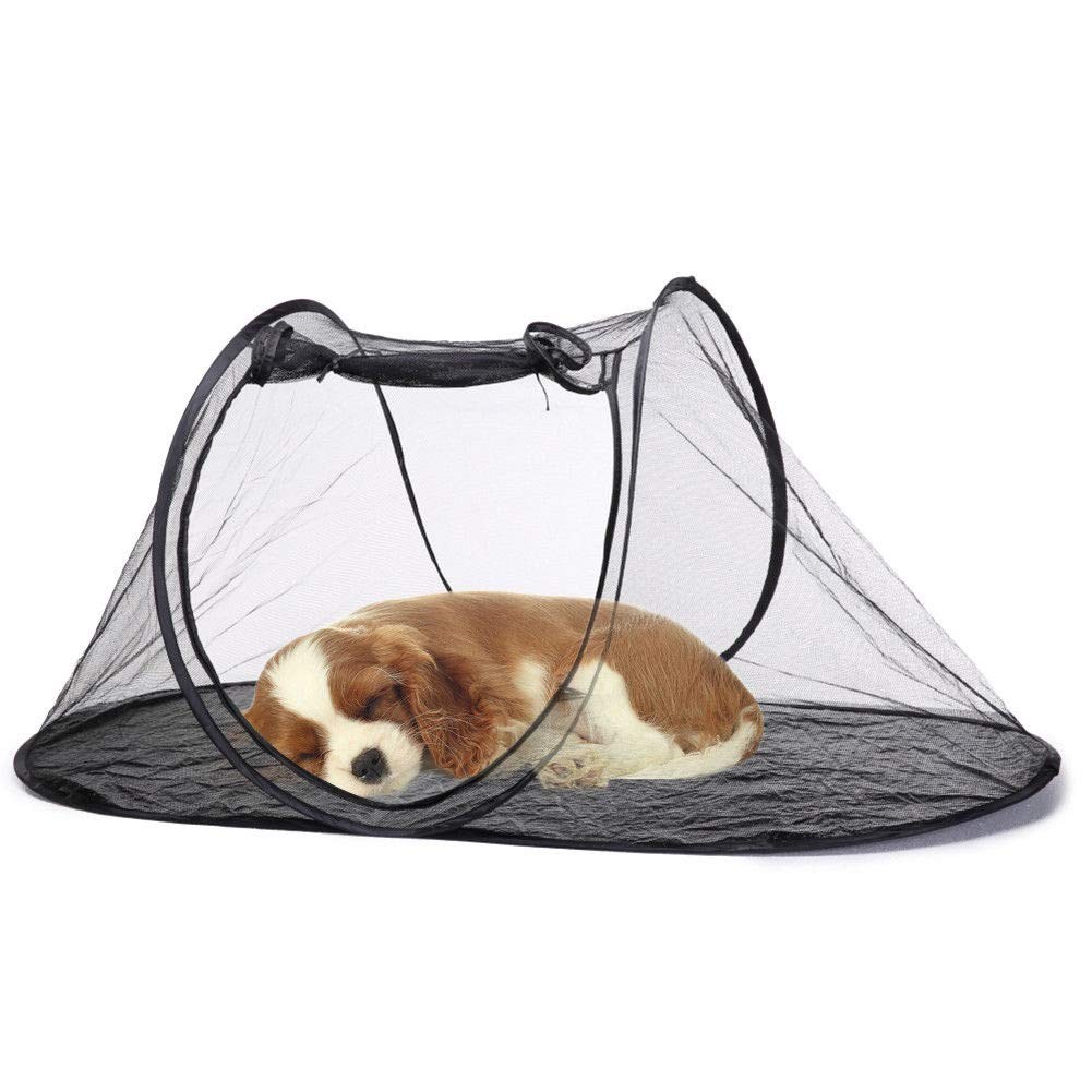 FidgetFidget Foldable Pet Playpen Dog Cat Puppy Play Tent Outdoor Enclosure Mesh Cage Fence