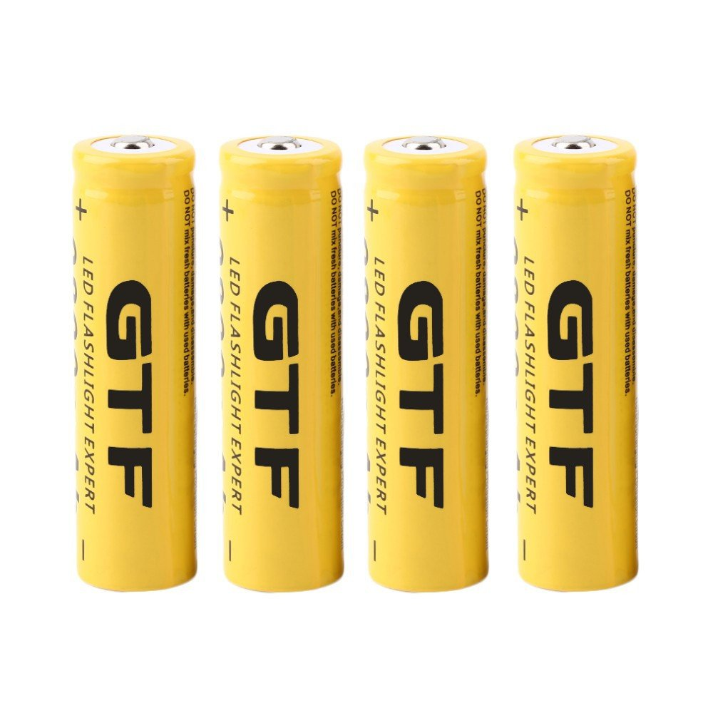 A Batterie rechargeable de Li-ion de 3.7V 18650 9800mah pour la torche de lampe-torche de LED JIJI886 4Pcs Piles Rechargeables