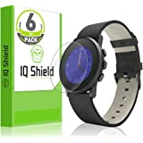 Pebble Time Round Screen Protector, IQ Shield LiQuidSkin Full Coverage Screen Protector for Pebble Time Round (20mm 6-Pack) HD Clear Anti-Bubble Film