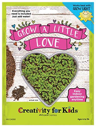 Creativity for Kids GROW a Little Love - Heart Shaped Mini Grow Kit for - Sunnies Heart Shaped