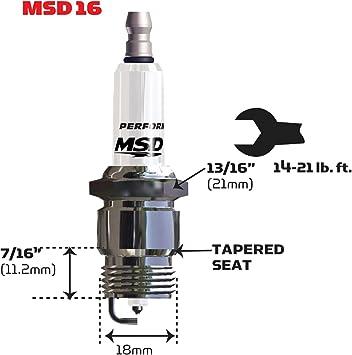 MSD Ignition 37224 Spark Plug 6IR5Y 4 Pack