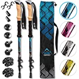 Premium Aluminum Hiking / Trekking Poles With Anti-Shock Tips, Walking Sticks With Cork Grips - Enjoy Pole Trekking In The Great Outdoors