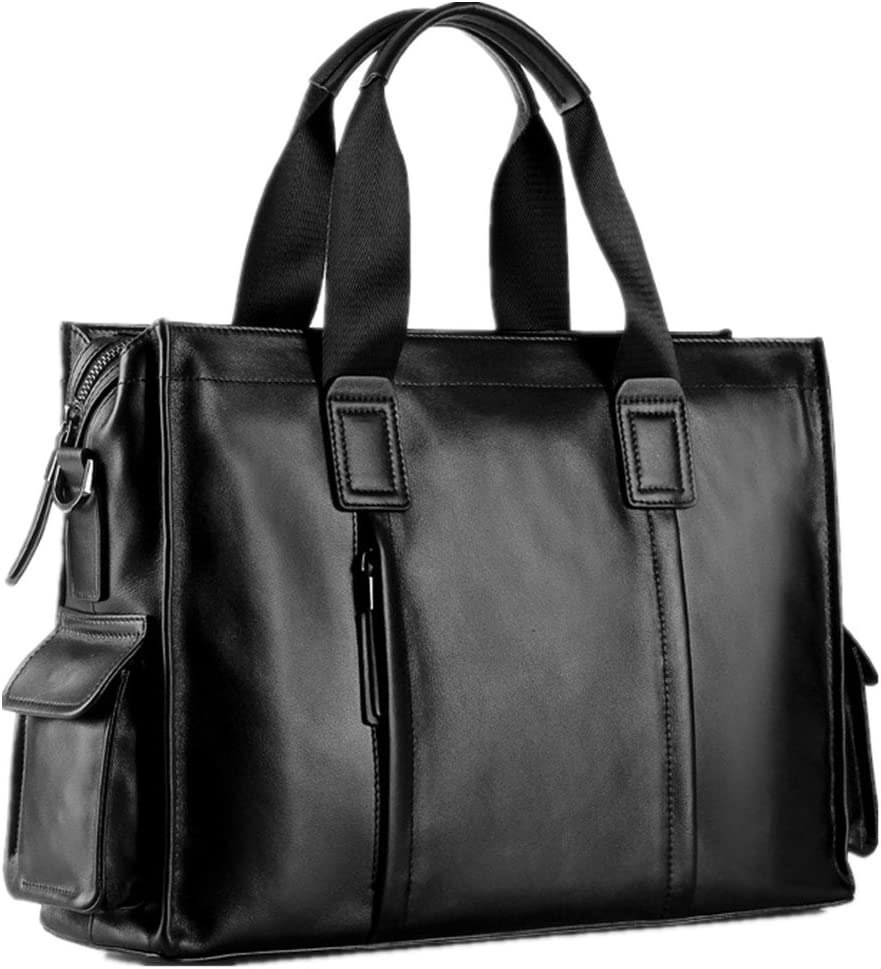 Cigkany Men Briefcase Mens Briefcase Mens Bag Leather Mens Handbag 14 Inch Computer Bag Business Bag Suitable for Business Casual Business Bag
