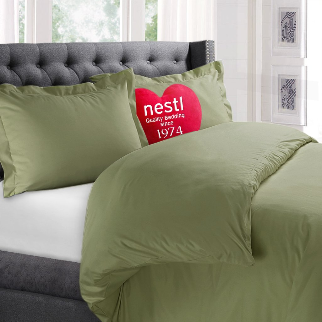 Nestl Bedding Microfiber Queen 3-Piece Duvet Cover Set
