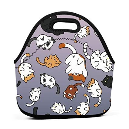 fd79e663023d Amazon.com - ONUPMIN Neoprene Funny Kitten Cats Portable Lunch Bag ...