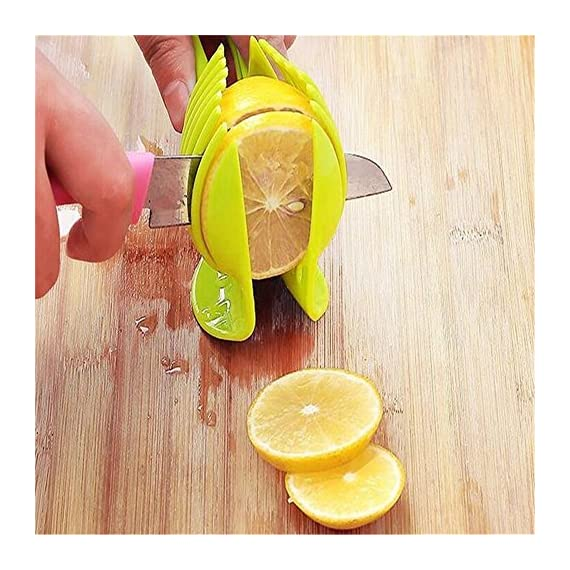 Best Utensils Tomato Slicer Lemon Cutter Multipurpose Handheld Round Fruit Tongs ABS Plastic Onion Holder Easy Slicing Fruits & Vegetable Tools Kitchen Cutting Aid Gadgets Tool 3 MADE IN CHINA: Unique design makes slicing fruits and vegetables more quickly and easily MULTI-PURPOSE: Conveniently designed slicing aid, perfect tool for any task in the kitchen, ideal for tomatoes, onions, lemon, citrus fruit & more! DURABLE & SAFETY: Made of 100% food grade Material, eco-friendly, durable in use. Clamp design, multifunctional, also couble be used as food tongs.