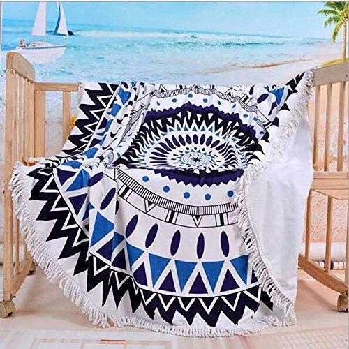 HXQ Roundies Mandala Beach Throw Indian Tapestry Yoga Mat Picnic Mat , A - Toalla Para Gimnasio