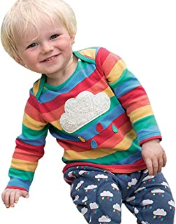 Toddler Kids Baby Fashion Rainbow Tops Round Neck Stripes Pullover Striped Print Tunic Blouse Vovotrade