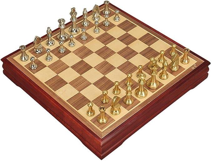 LEZDPP Piezas de Juegos de Mesa Viaje de ajedrez de Madera Tablero de ajedrez Tablero de ajedrez Juego de ajedrez Juego de ajedrez Backgammon Damas Juguete Entretenimiento Juego: Amazon.es: Hogar