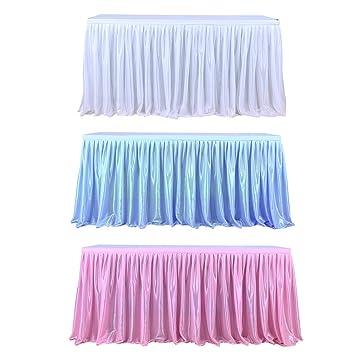 Falda de mesa camilla de gasa para boda, fiesta, cumpleaños, actividades, decoración, banquete, de Sue Supply, 275 cm