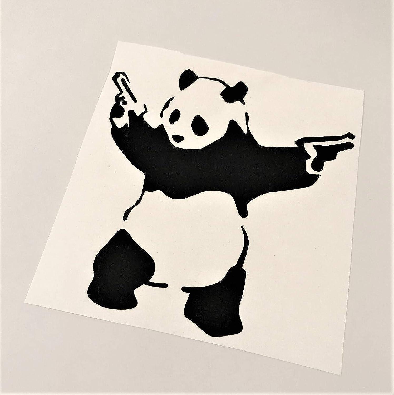 MR.Ci Banksy Panda Vinyl Decal Graffiti Fan Art| Black 6in Laptop Tablet Dorm Life Wall D/écor
